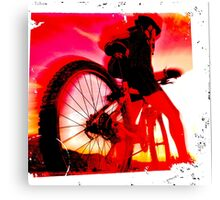 Mountain Biker Canvas Print