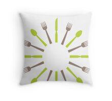 retro kitchen design Throw Pillow