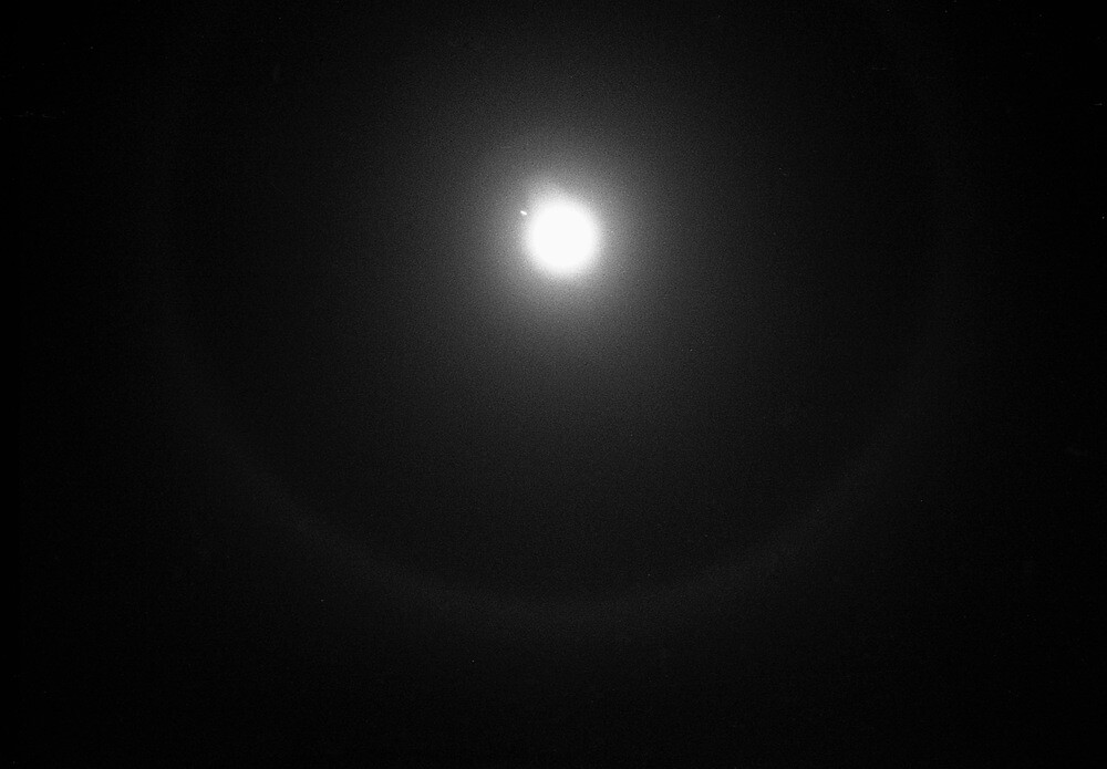 Christmas 2012 Moon, Jupiter and Ice Ring by James2001