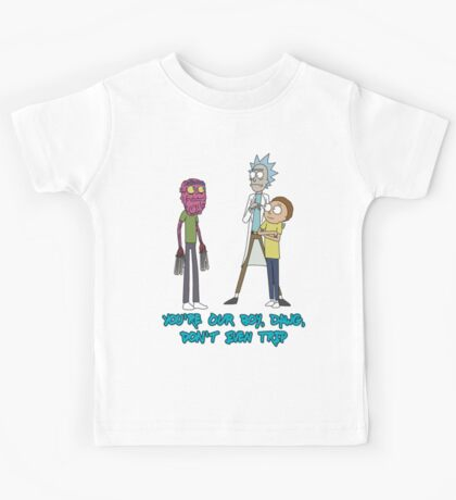 Rick and Morty – Don't Even Trip Kids Tee