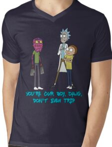 Rick and Morty – Don't Even Trip Mens V-Neck T-Shirt