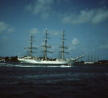""""""" Tall Ships In Hamilton harbour Bermuda """" by terryfellows"""