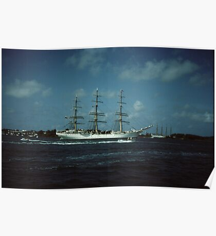 """ Tall Ships In Hamilton harbour Bermuda "" Poster"