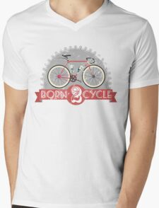 Born To Cycle Mens V-Neck T-Shirt