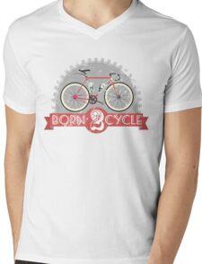 Born To Cycle Mens V-Neck T-Shirt