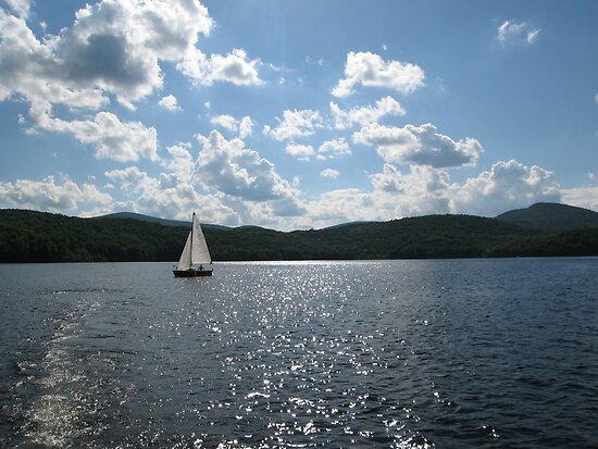 Sailboat on Vermont Lake by apalmiter