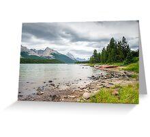 Shore of Maligne Lake Greeting Card