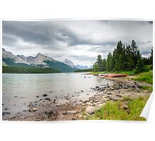 Shore of Maligne Lake Poster