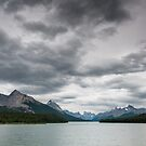Dark clouds over Maligne Lake by peterwey