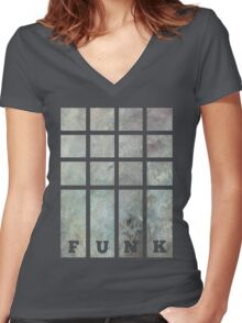 Funky Funk Graphic Tee Women's Fitted V-Neck T-Shirt