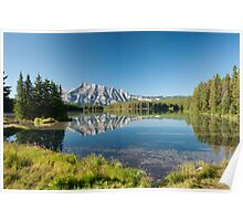 Mount Rundle from Cascade Ponds Poster