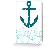 Anchor and sea Greeting Card