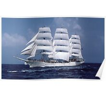 """ Tall Ship En-Route "" Poster"
