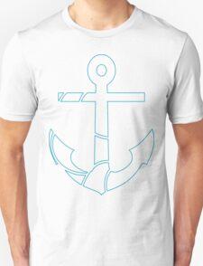 blue outline anchor Unisex T-Shirt