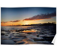 Lanzarote Lighthouse Sunset Poster
