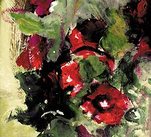 Floral Oil Painting by Pawel J