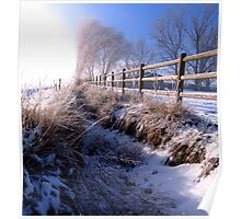 A Dusting of Snow In Our Irrigation Ditch Poster