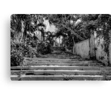 Stairs at the end of Queen Street in Nassau, The Bahamas Canvas Print
