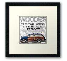 Woody Wagon Framed Print