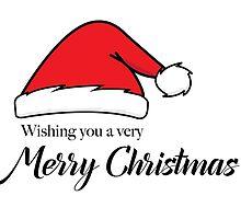 Santa Hat Merry Christmas by roguebrewlab