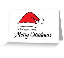 Santa Hat Merry Christmas Greeting Card