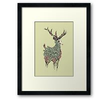 Beautiful Deer Old Framed Print
