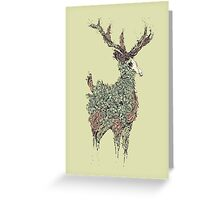 Beautiful Deer Old Greeting Card
