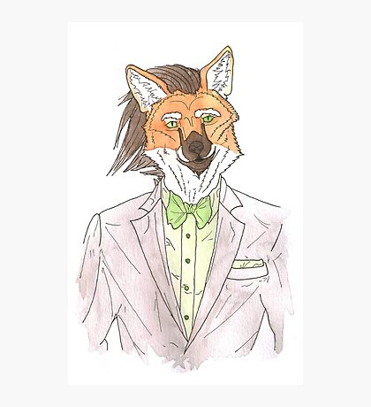 Anthro maned wolf / fox Photographic Print