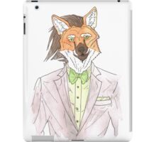 Anthro maned wolf / fox iPad Case/Skin