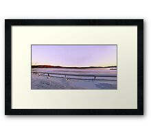 Purple At Night, Pterodactyl's Delight Framed Print