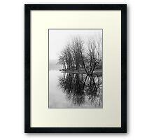 Empty Benches Framed Print