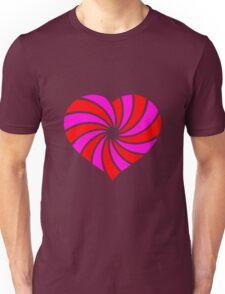 Heart; Spiral Herz Unisex T-Shirt