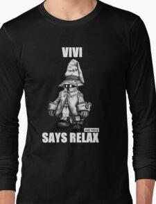 Vivi Says Relax - Sketch Em Up - White Long Sleeve T-Shirt