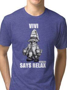 Vivi Says Relax - Sketch Em Up - White Tri-blend T-Shirt
