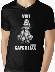 Vivi Says Relax - Sketch Em Up - White Mens V-Neck T-Shirt