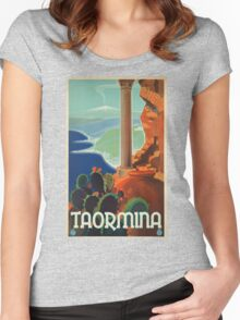 Vintage poster - Taormina Women's Fitted Scoop T-Shirt