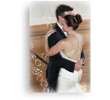 Dancing bride and groom Canvas Print