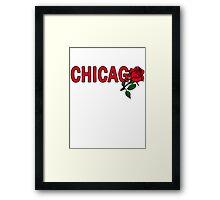 Chicago Rose│Red Framed Print