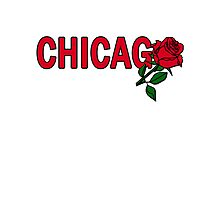 Chicago Rose│Red Photographic Print