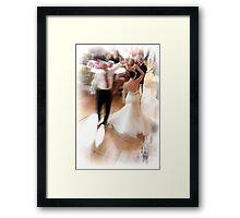Dancing bride Framed Print