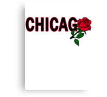 Chicago Rose│Black Canvas Print