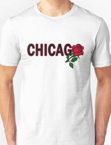 Chicago Rose│Black T-Shirt