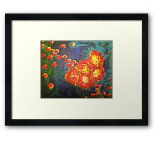 Water Poppies Framed Print