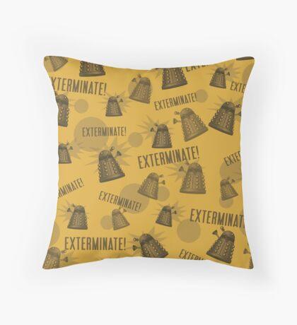 Daleks - Yellow Throw Pillow