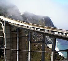Foggy Bixby Bridge Big Sur by Steve Upton