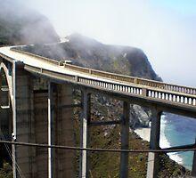 Foggy Bixby Bridge Big Sur by Steve Upton