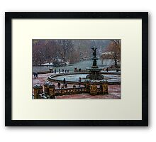Central Park, The 30 Minute Snow Storm Framed Print