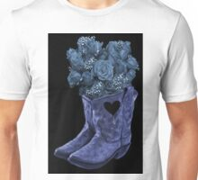 ☆ ★ ☆EVEN COWGIRLS GET THE BLUES -SOMETIMES-(AND COWBOYS 2) PICTURE/CARD ☆ ★ ☆¸ Unisex T-Shirt