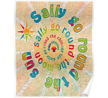 Sally Go Around-Available As Art Prints-Mugs,Cases,Duvets,T Shirts,Stickers,etc Poster