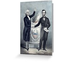 Washington and Lincoln  Greeting Card